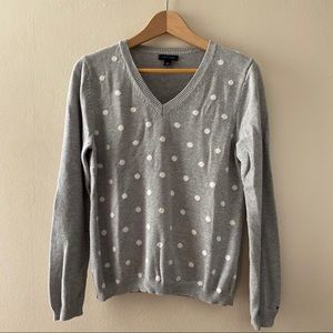Polka Dot Tommy Hilfiger Cotton Pullover Sweater